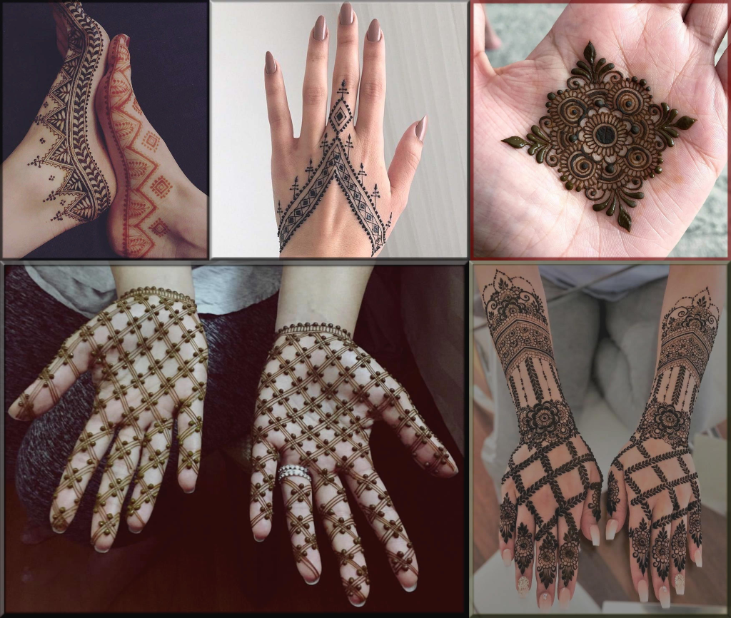 checks mehndi design 2021