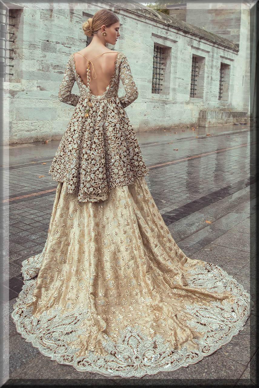 latest floral bridal walima dresses