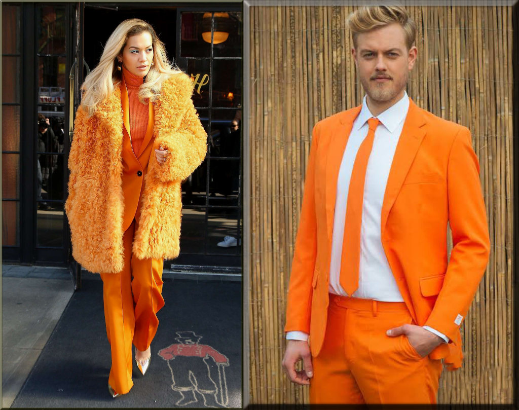 orange dress collections for couples for valentine's Day
