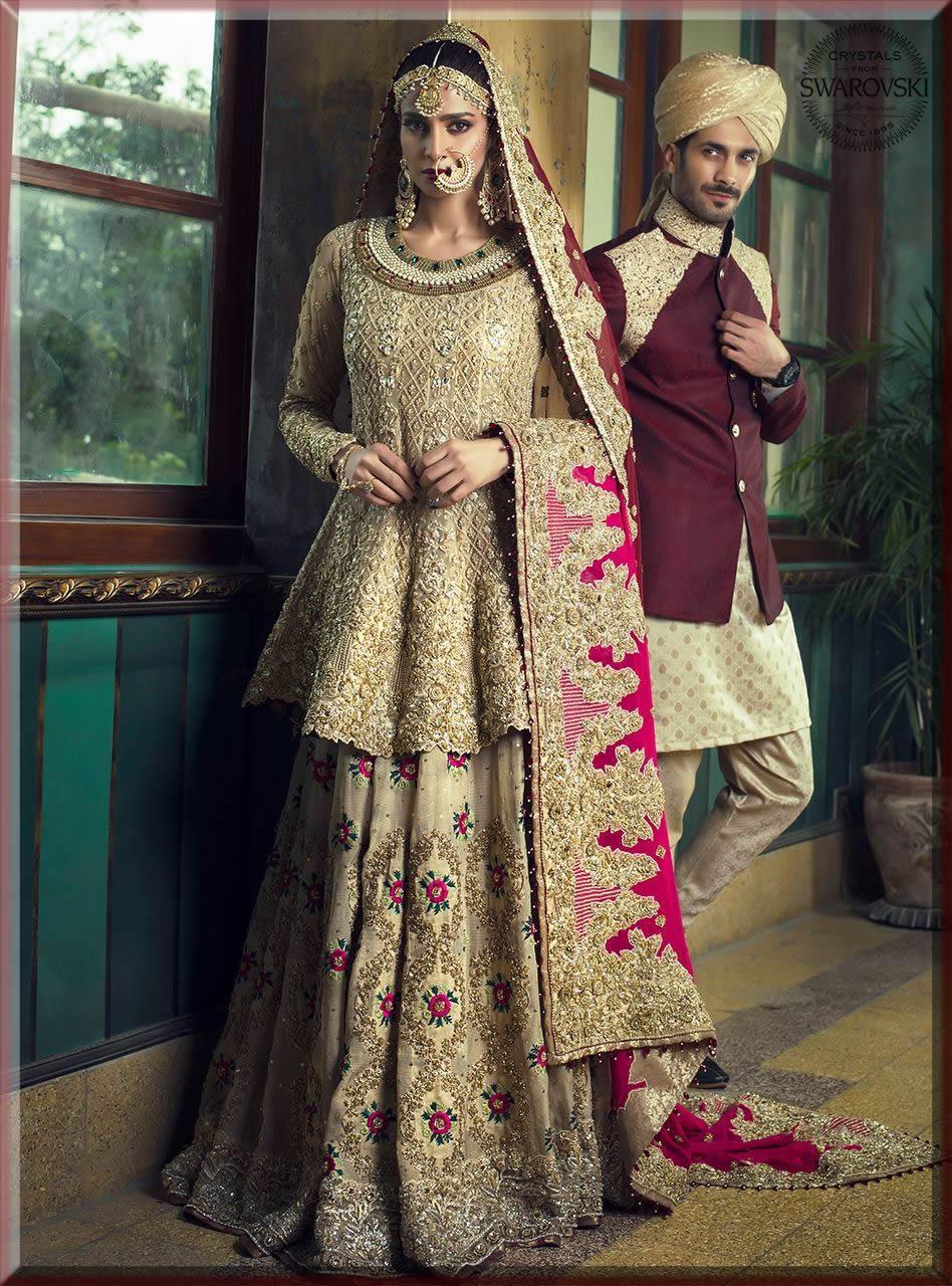 saba qamar in latest bridal walima dresses