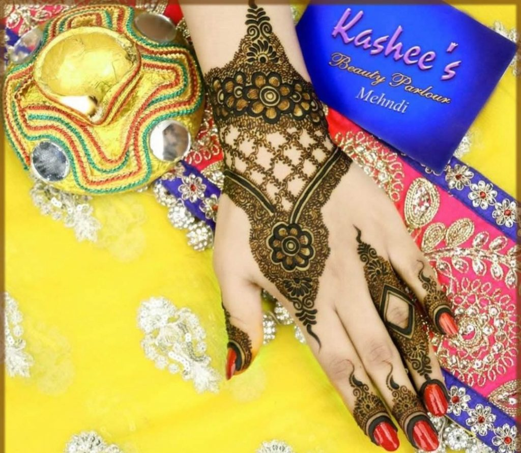 simple kashees mehndi designs for teenagers