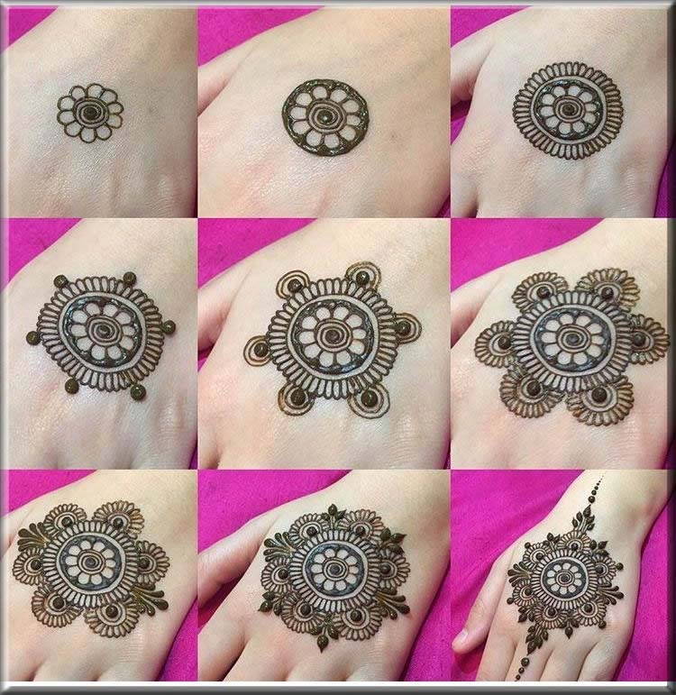 step by step mehndi guides for beginners