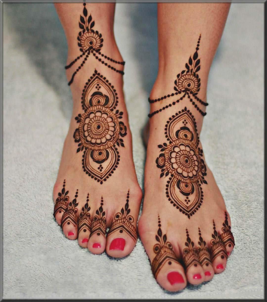 latest bridal feet designs 2020
