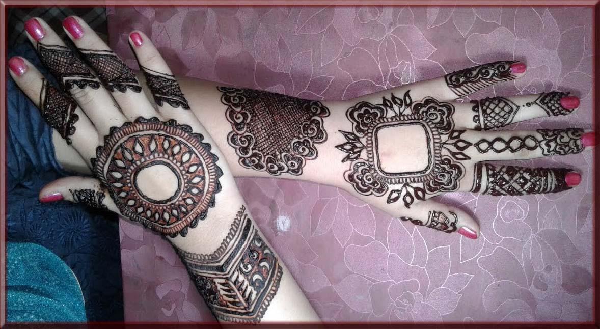 splendid tikki mehndi designs for brides