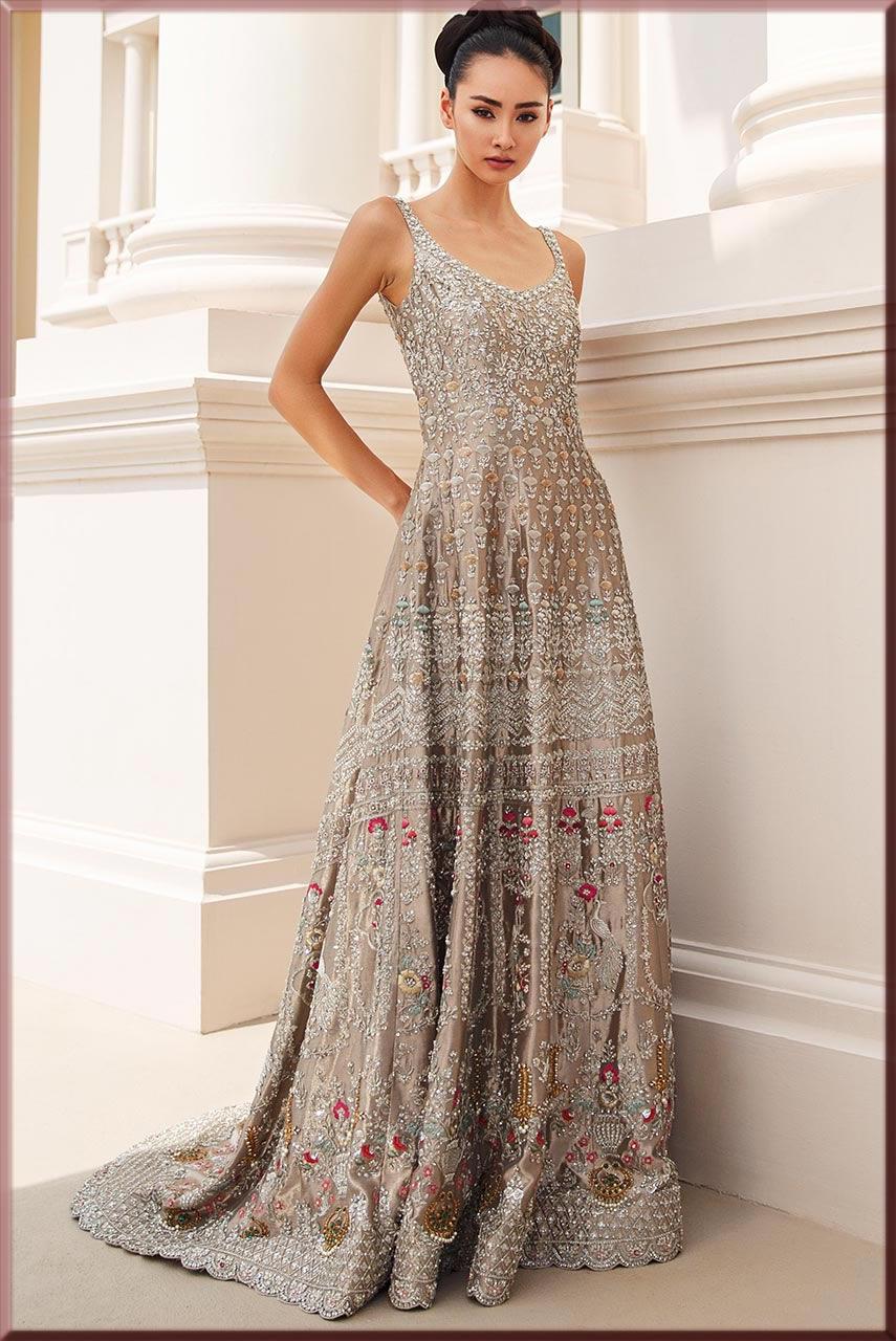stunning long tail Bridal Walima dresses