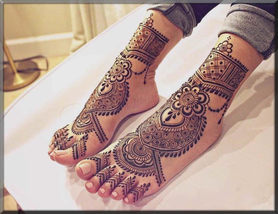 turkish bridal henna style for feet