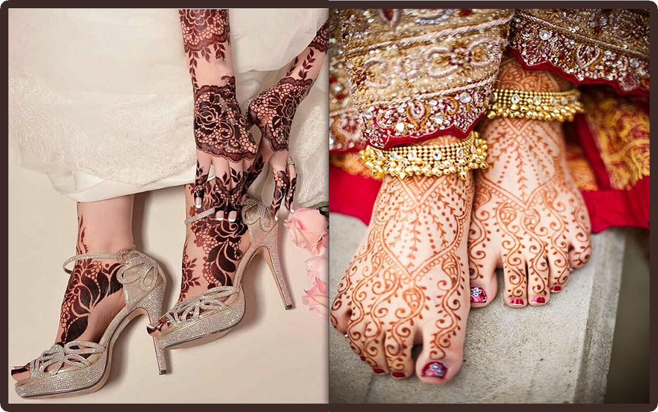 turkish feet mehndi designs