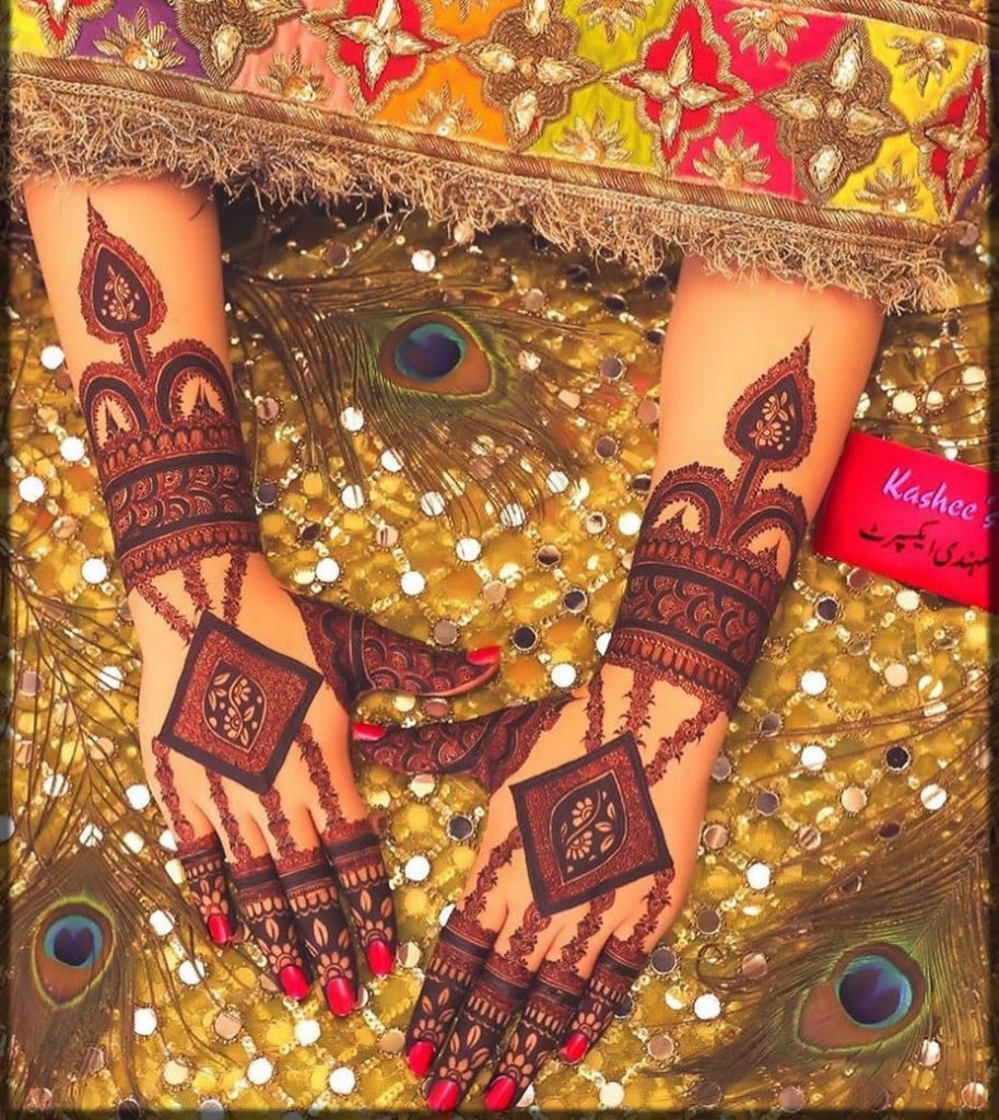 Diamond tikka kashee's mehndi designs