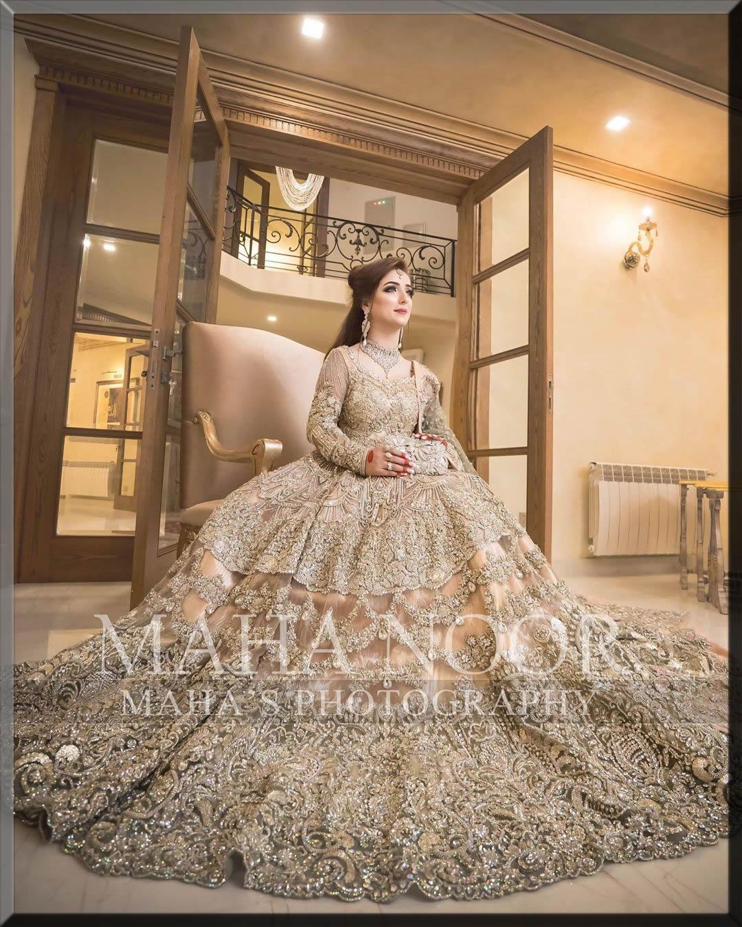 beautiful bridal walima dress
