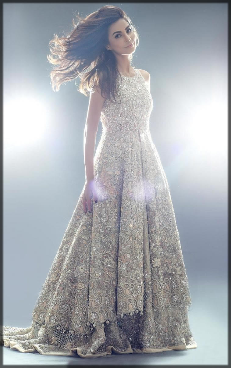 walima pleated maxi design for bride