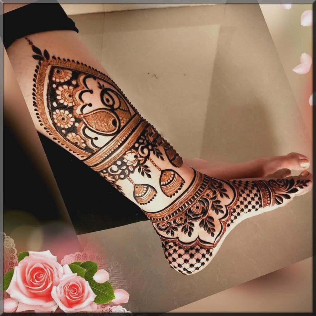 worthy bridal foot mehndi design
