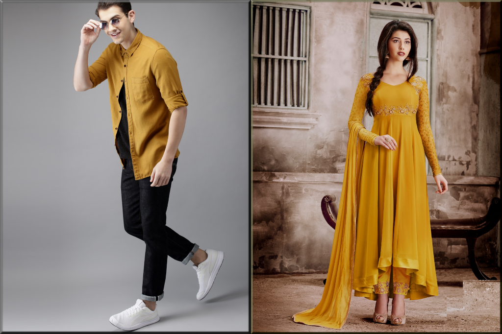 yellow Valentine's Day dress ideas for couples