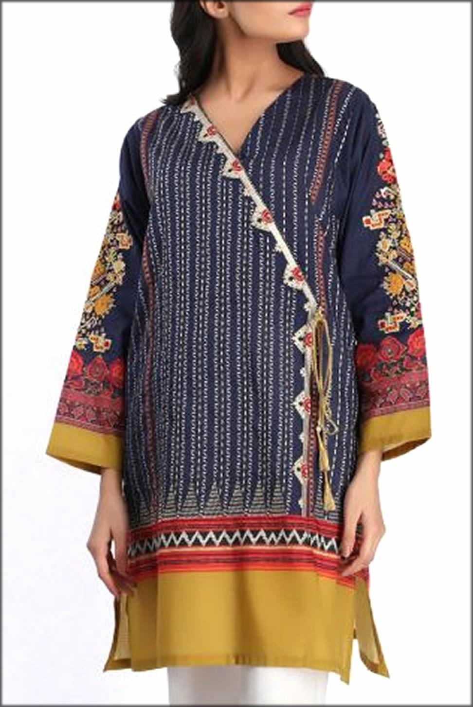 Angrakha Kurta With Full Sleeves