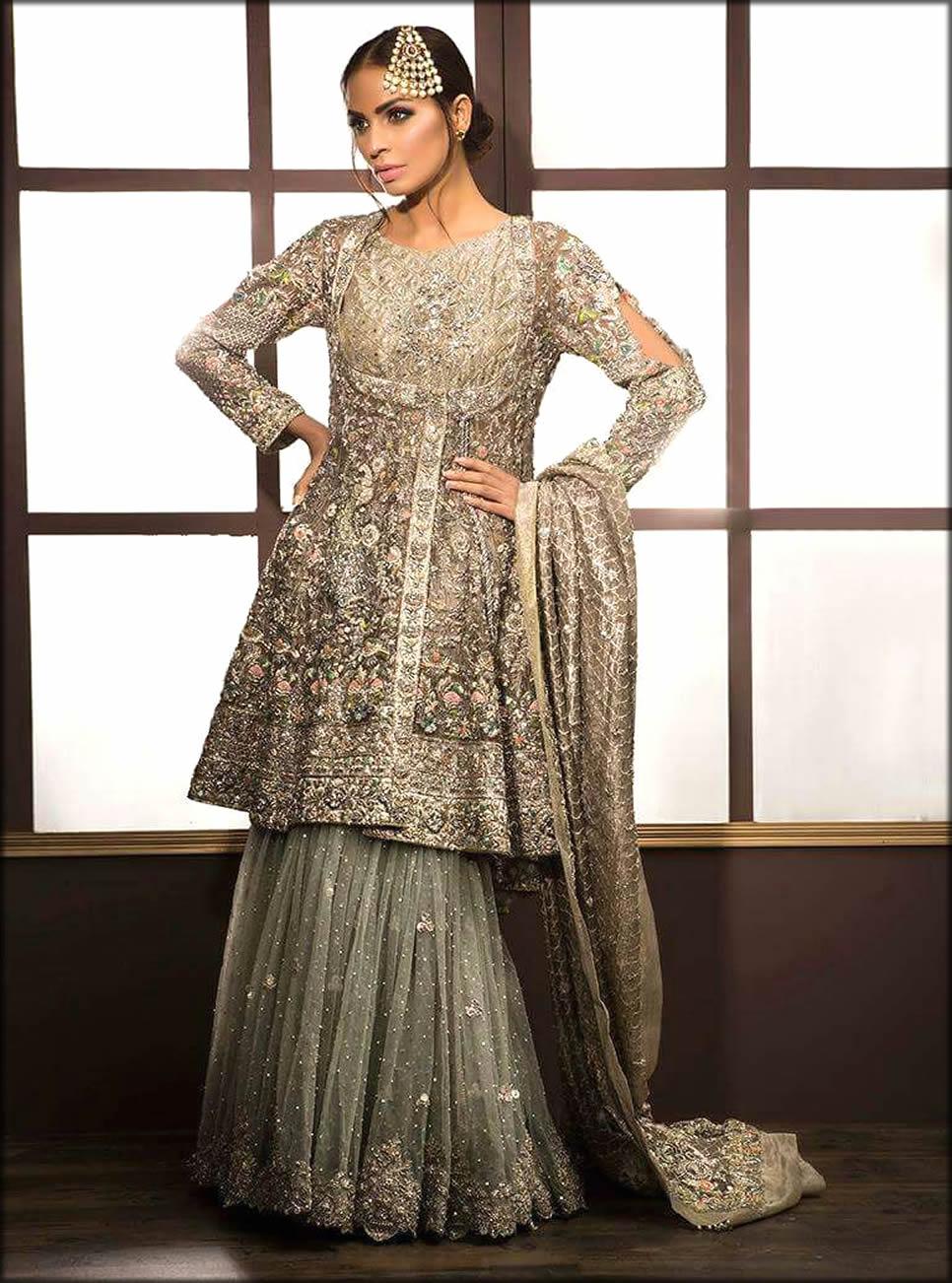 Angrakha Style Bridal Sharara