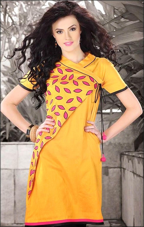 Angrakha Style Shirt For Girls