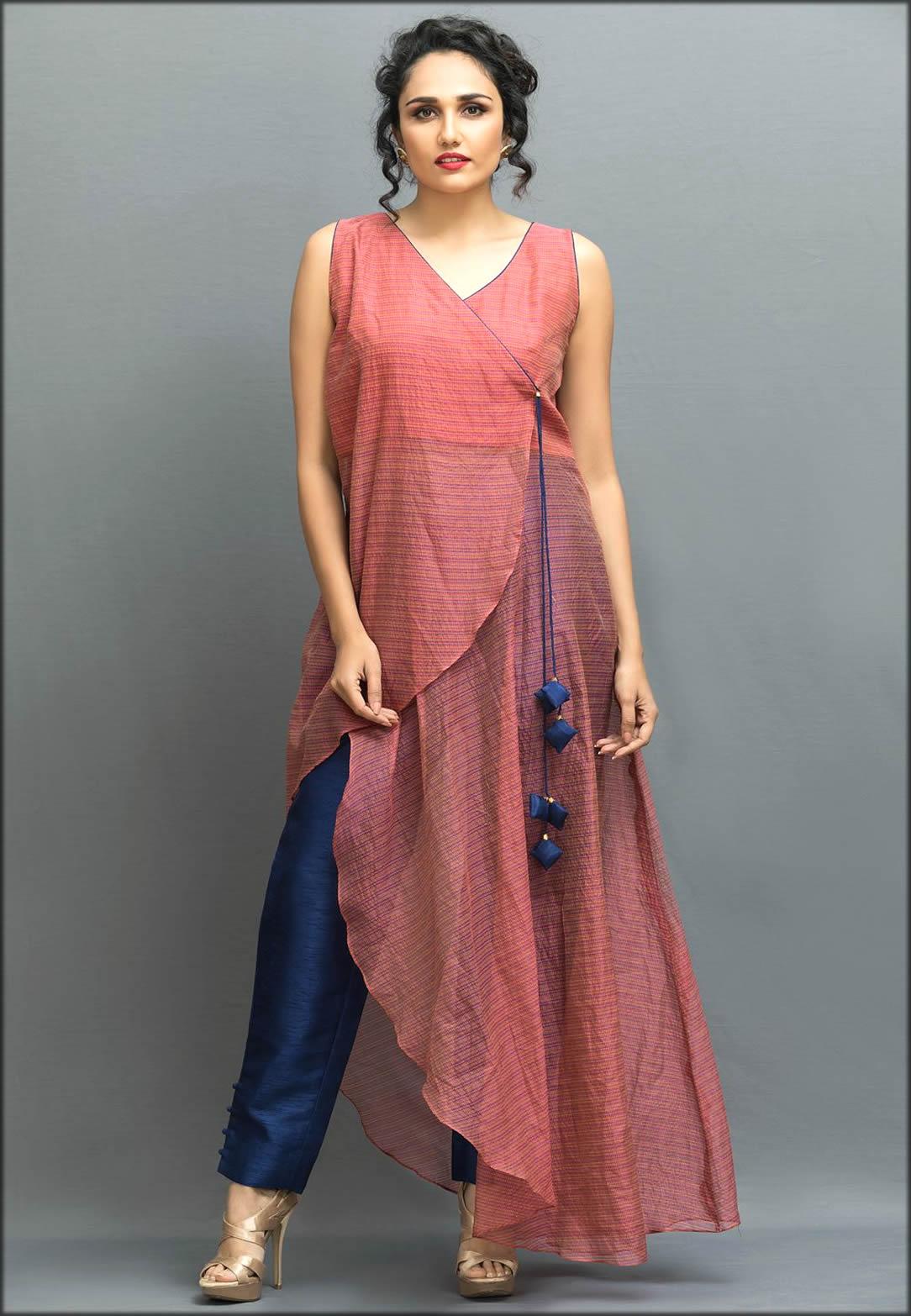 Beautifull Cotton Kamari Angrakha