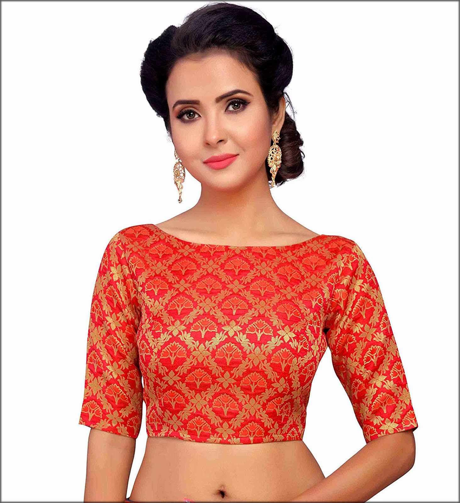 Boatneck Blouse For Saree