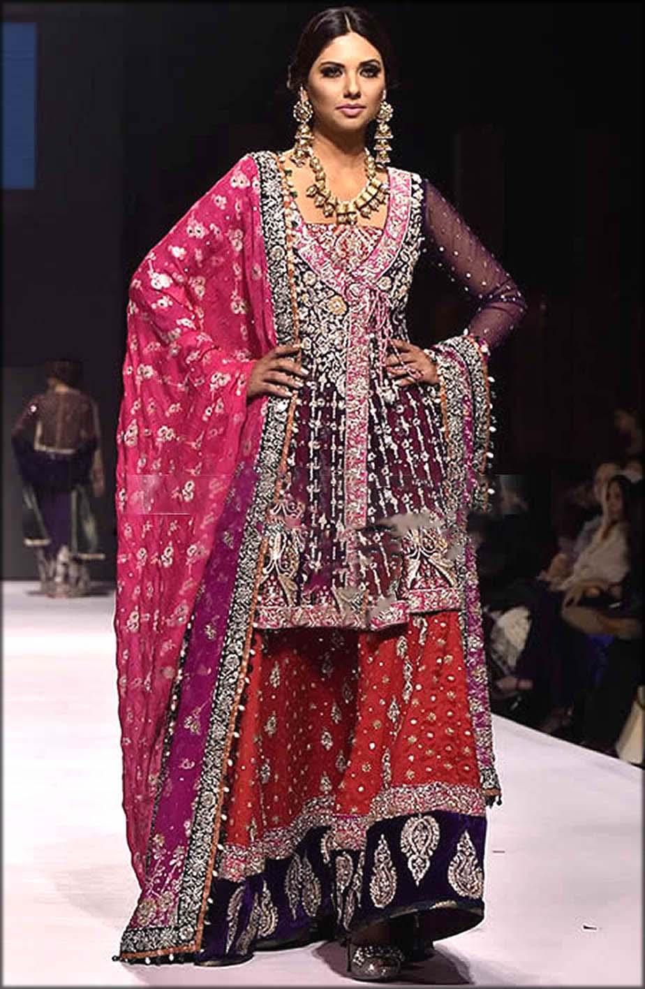Bridal Wear Angrakha Style Lehenga