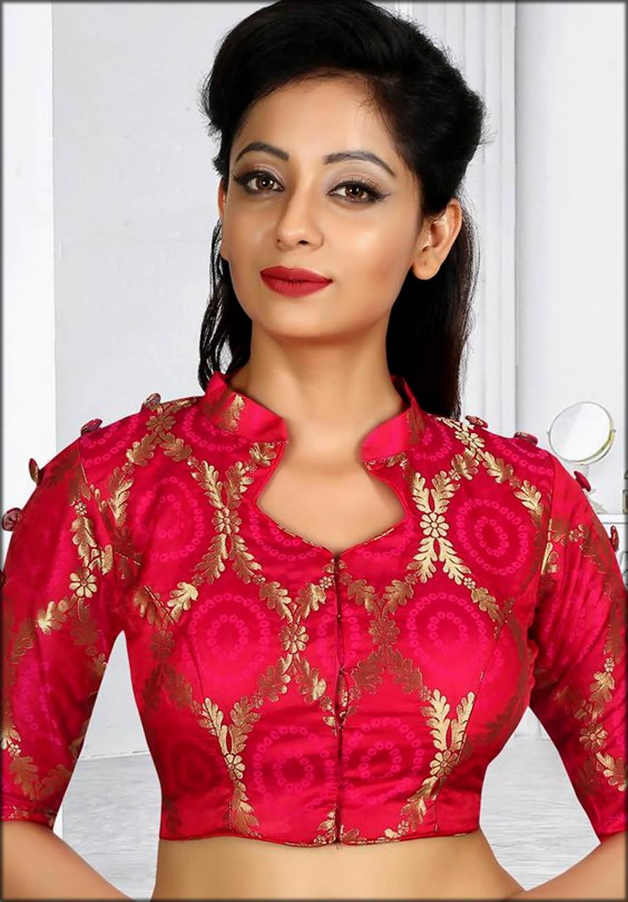 Collar Blouse For Saree