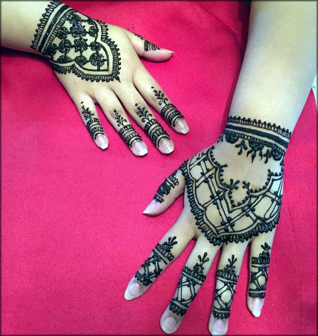 Eid Mehndi Designs For Back Hand
