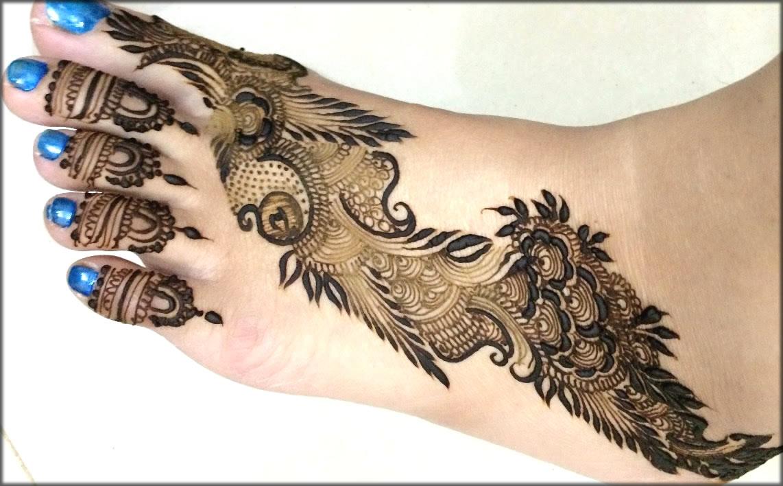 Eid Mehndi Designs For Feet