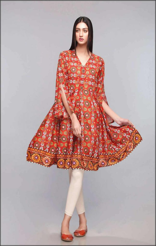 Embroidery Multi Color Frock