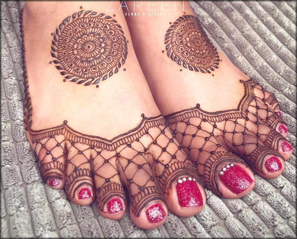 Feet Henna Art