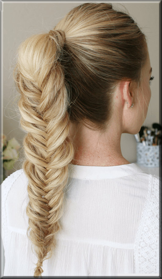 Fishtail eid hairstyles for girls