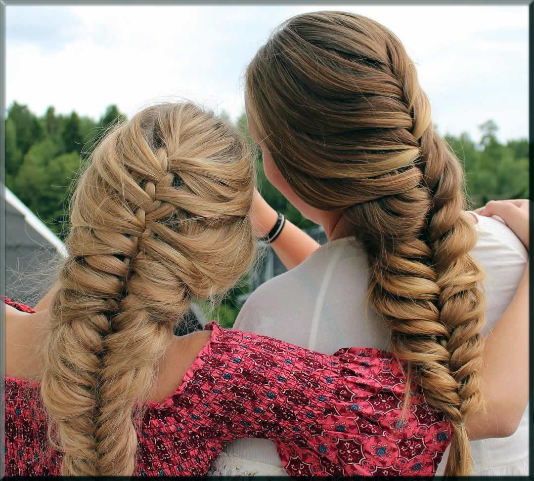 French Braid eid hairstyles for girls