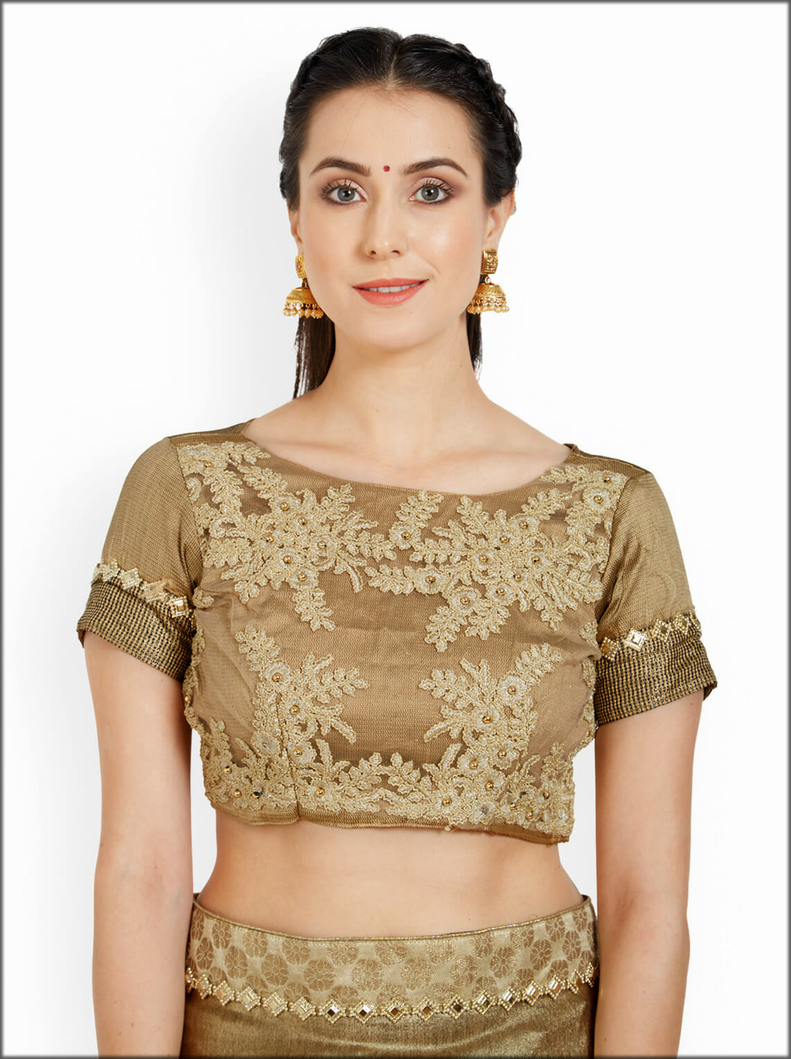 Golden Indian Women Blouse Collection