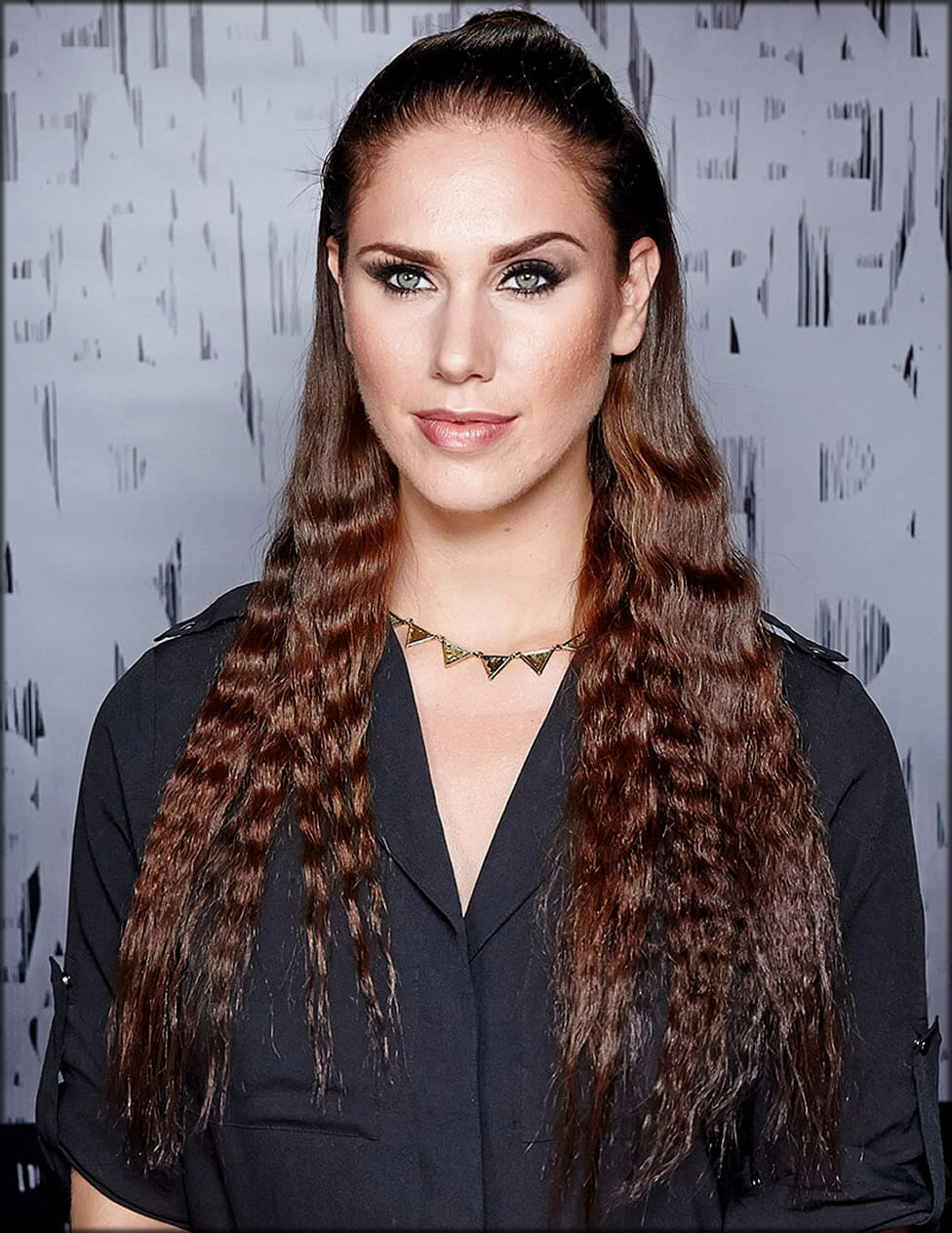 Half Up Waves Women Hairstyles For Long Hairs