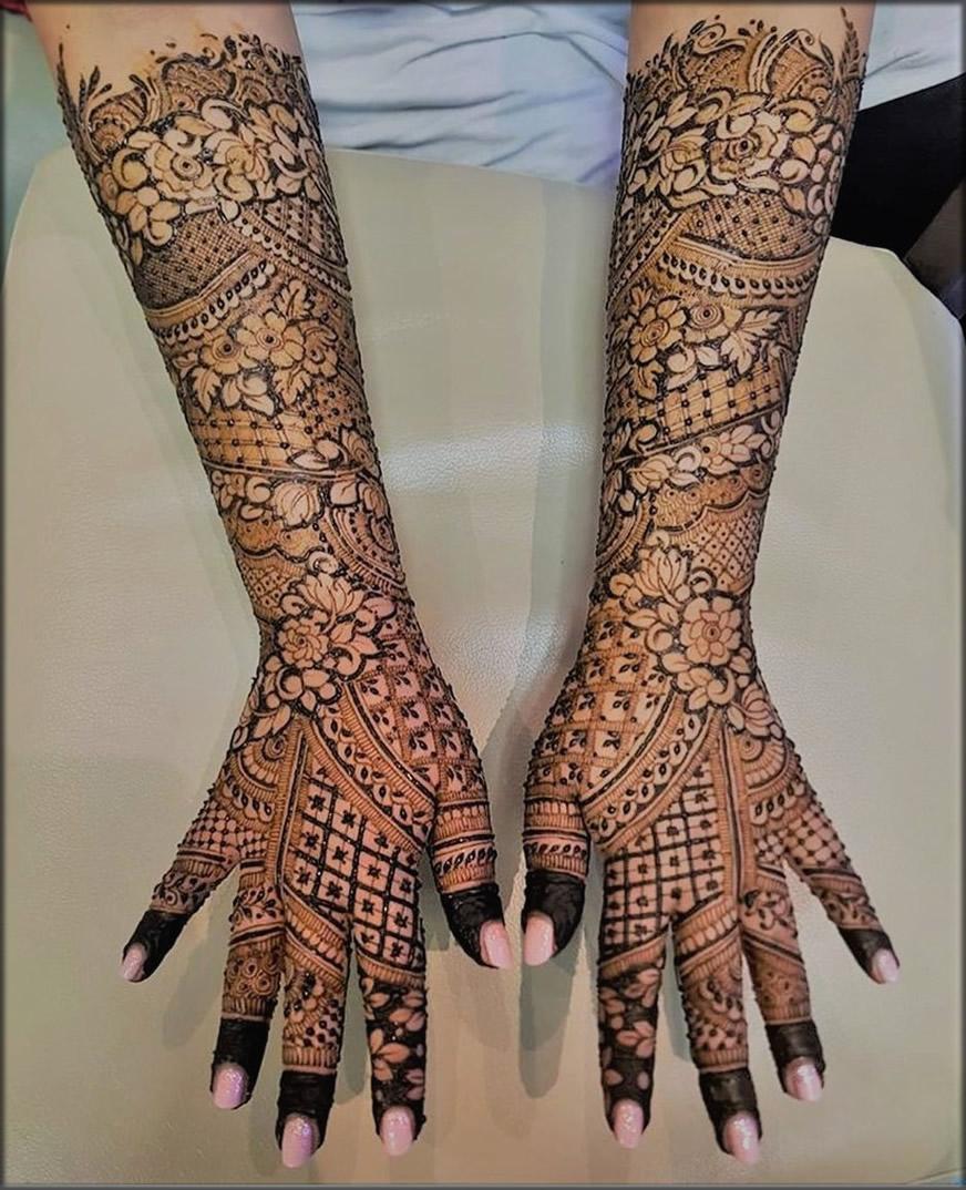Indian Floral Henna Art