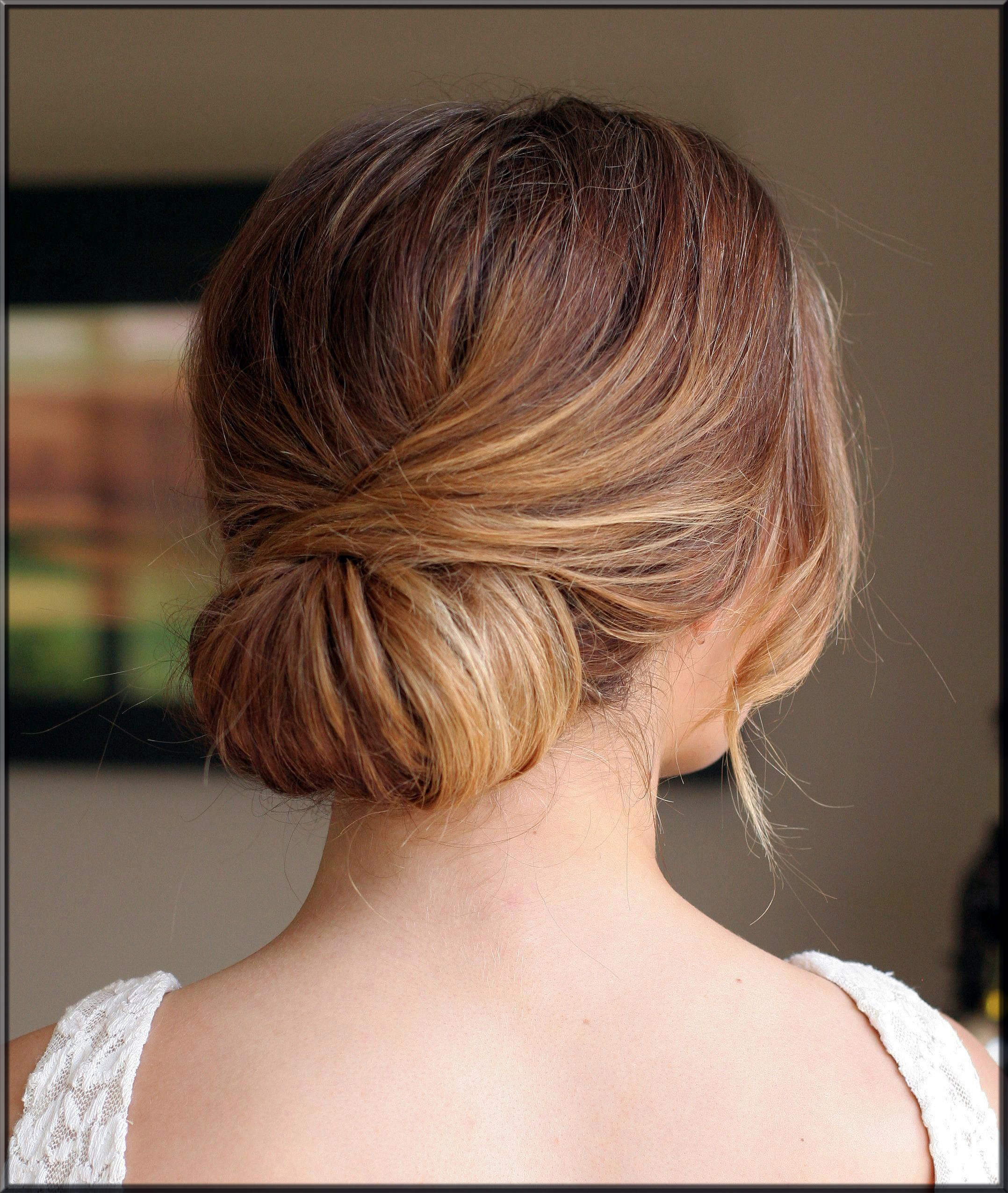 Low Chignon Updo hairstyles for girls
