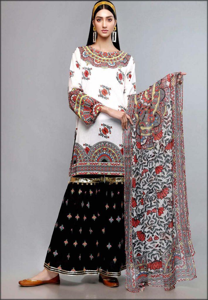 Madubani Mandala Stylish Shirt And Dupatta