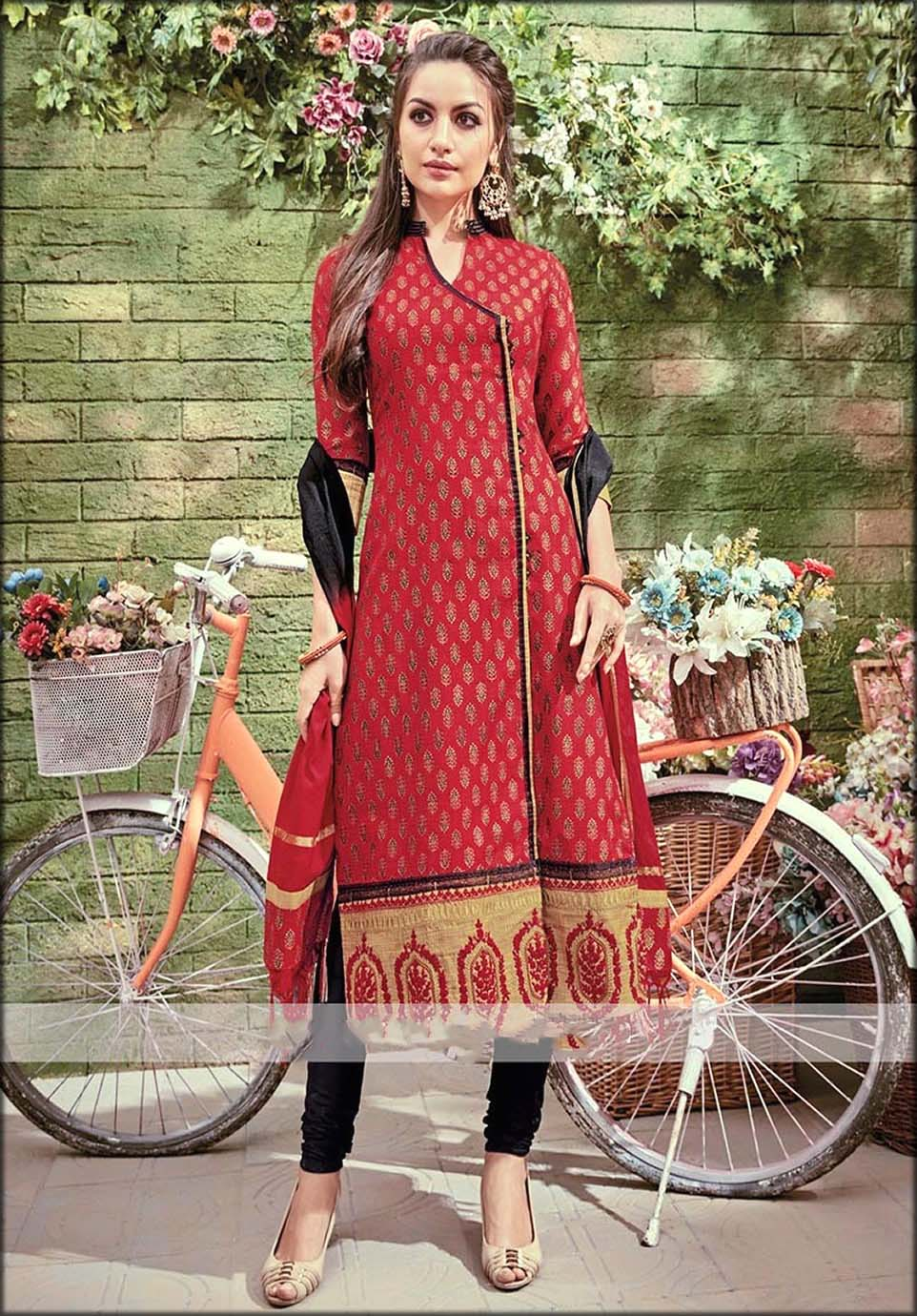 Maroon And Black Suit In Angrakha Style