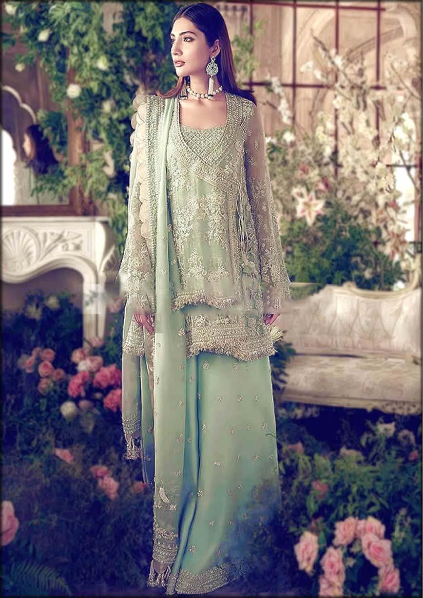 Paistani Designer Angrakha Suit In Short Lenght