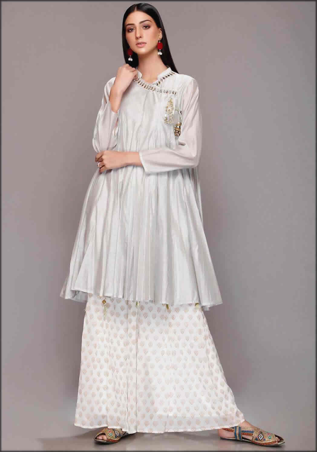 Paper Cotton Frock Rang Ja Summer Collection