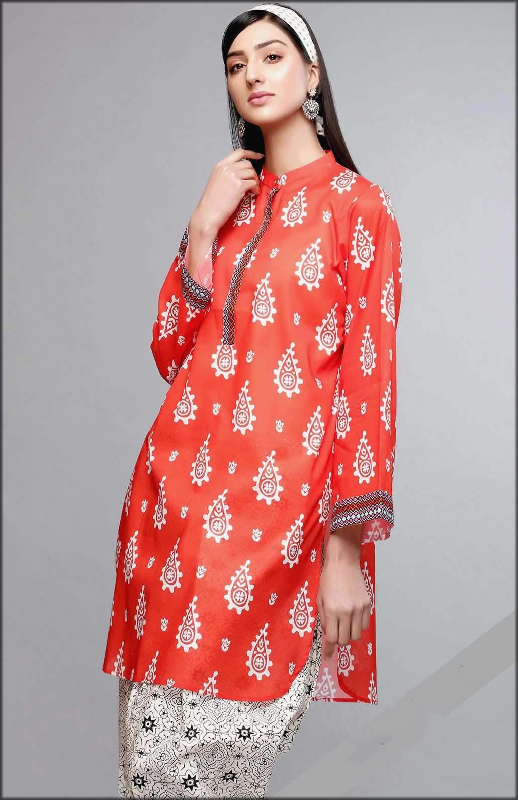 Rang Ja Summer Collection Printed Lawn Untitched Shirt