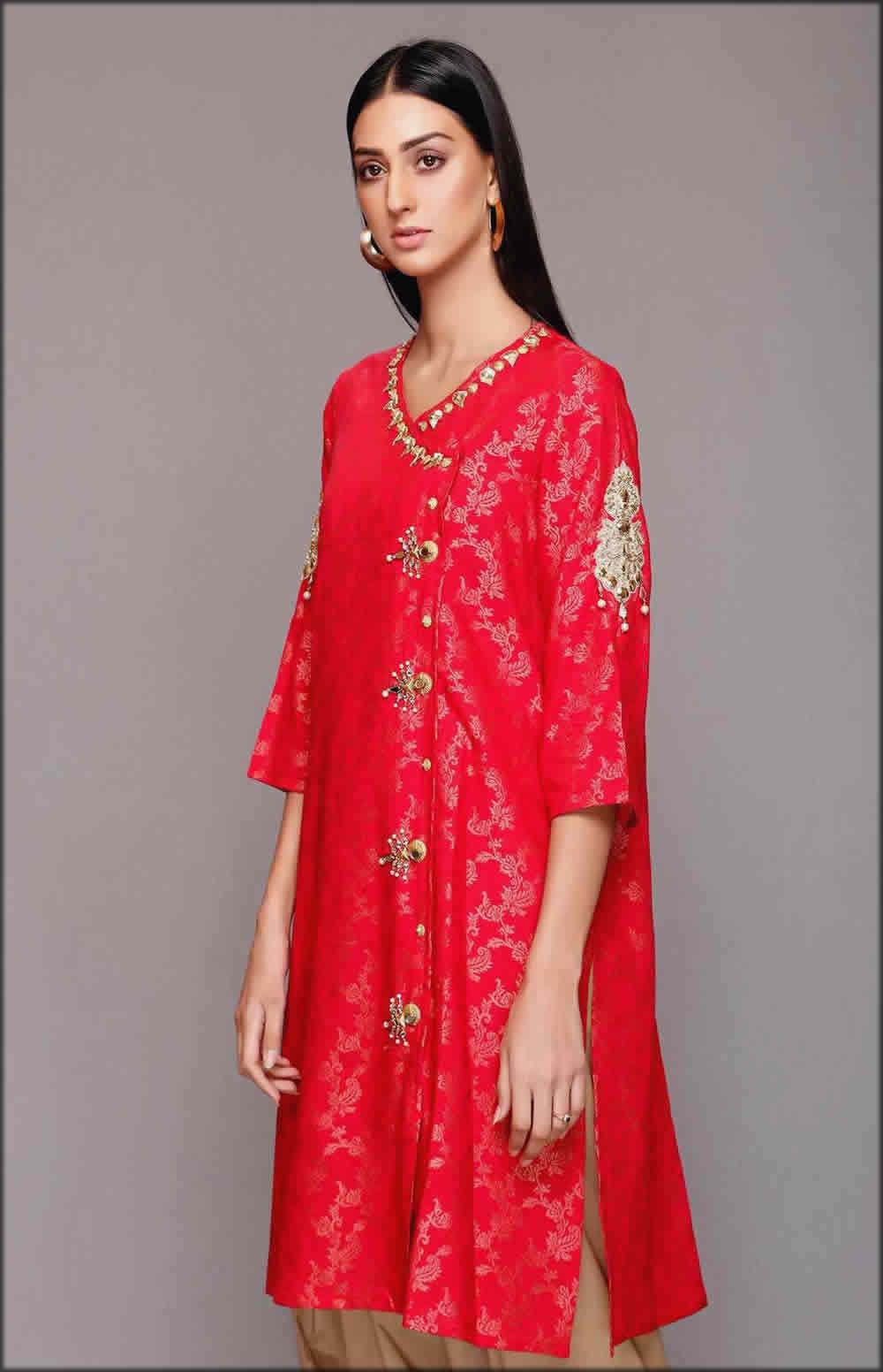 Red Jall Jhumka Shirt