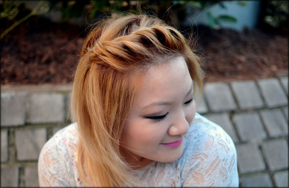 Simple Side Twist Hair Style For Women