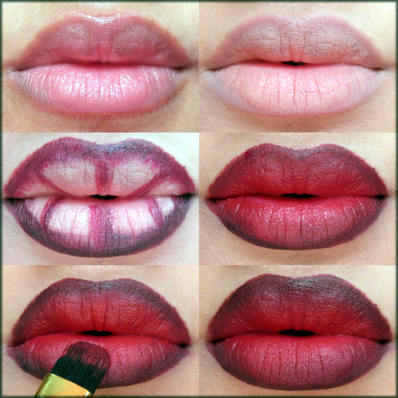 Step by Step lipsticks tutorials