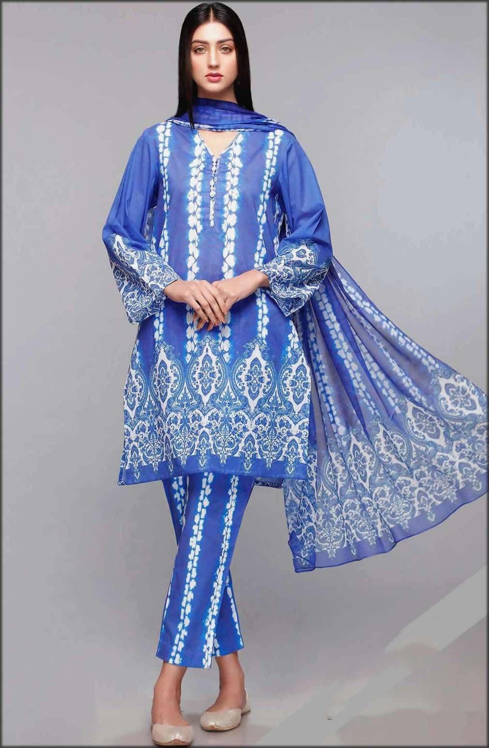 Ustitched Printed Lawn Shirt And Dupatta Rang Ja Summer Collection
