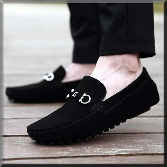 black Business Casual shoes for men