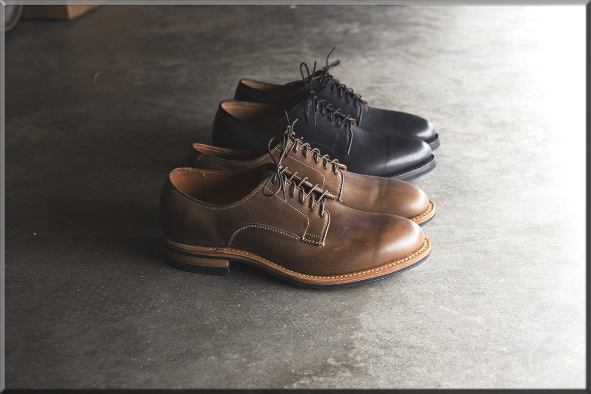 black and brown derby shoes for men