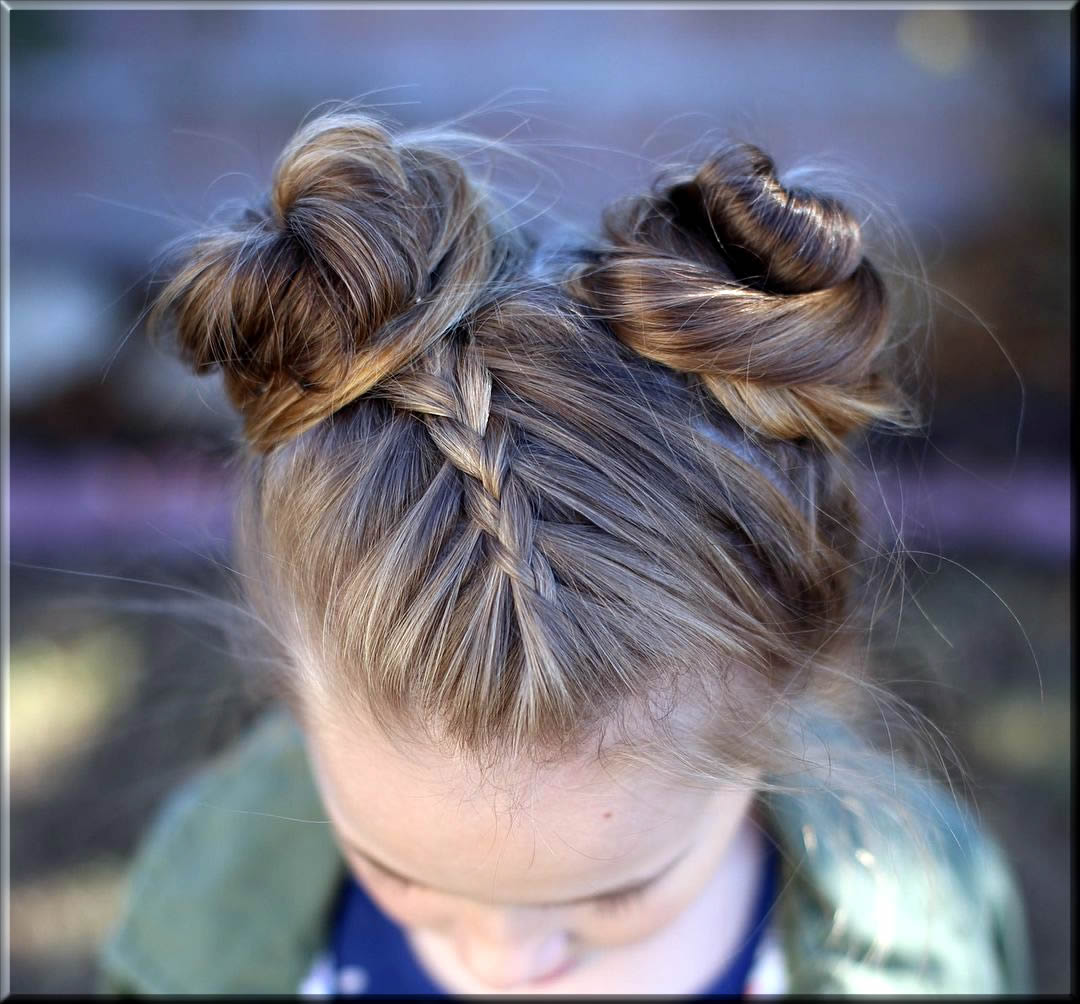 classy Pigtail Buns eid hairstyles for girls