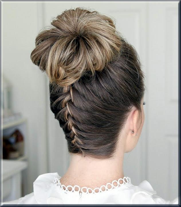 classy high hair bun for ladies