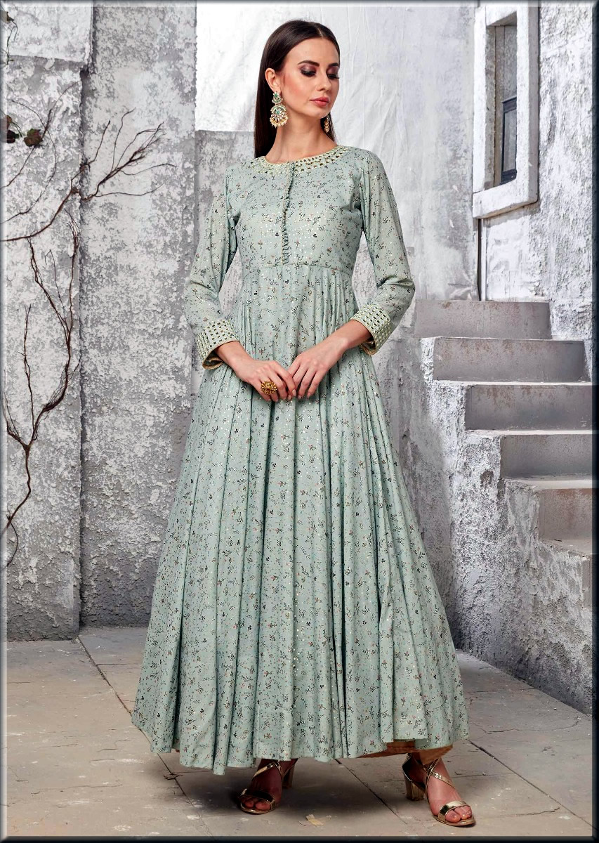 cotton casaul wear anarkali frocks