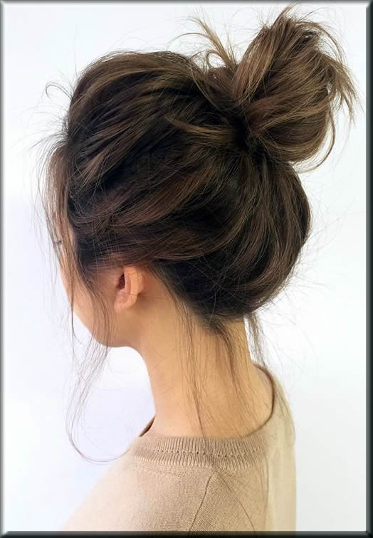 eid hairstyles for girls a Messy Bun