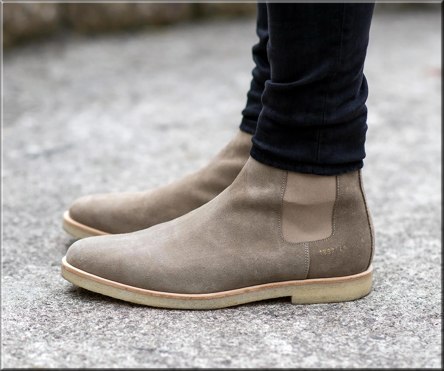 grey chelse Business Casual shoes for men