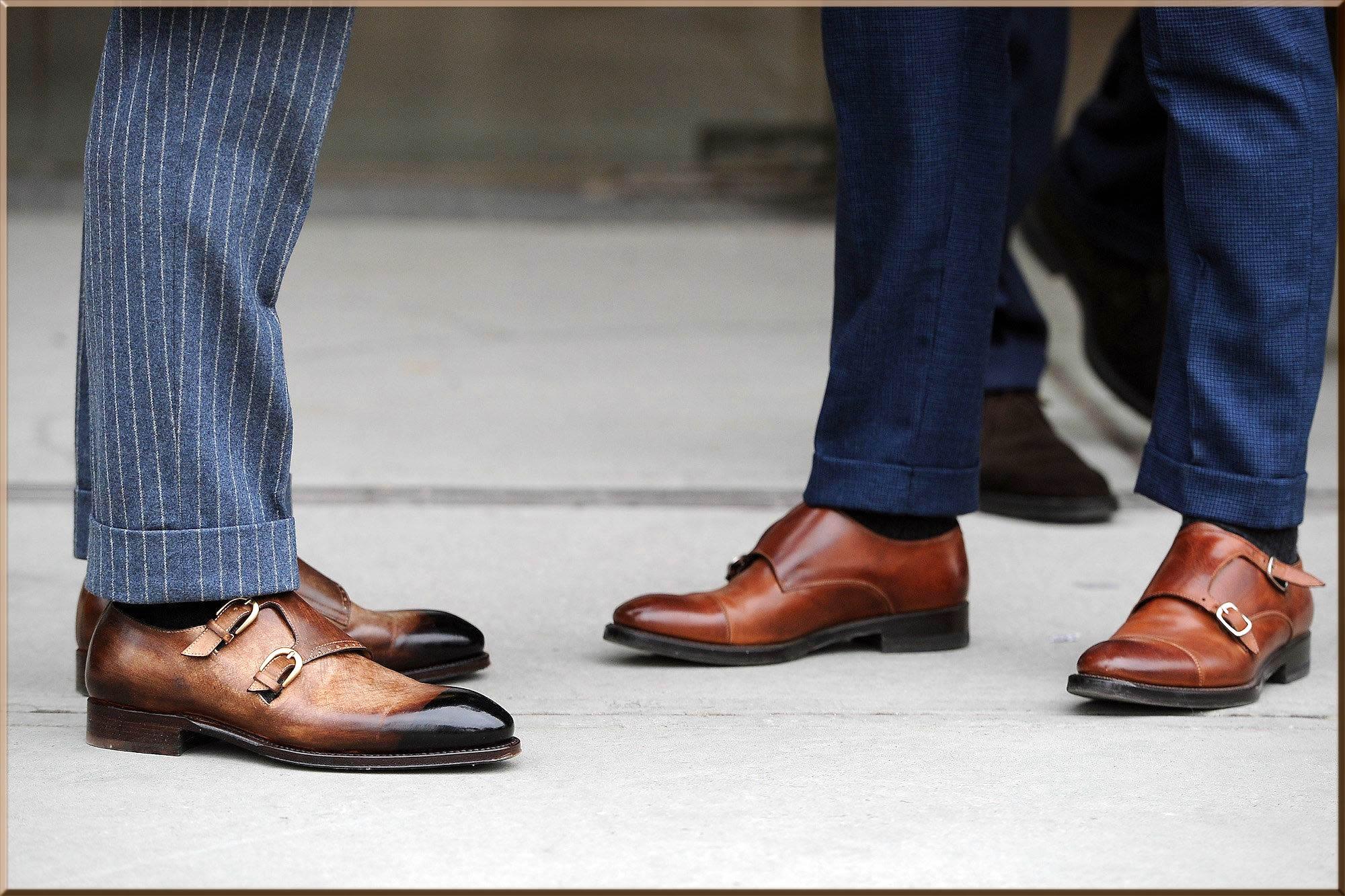 latest monkstrip bussiness wear shoe
